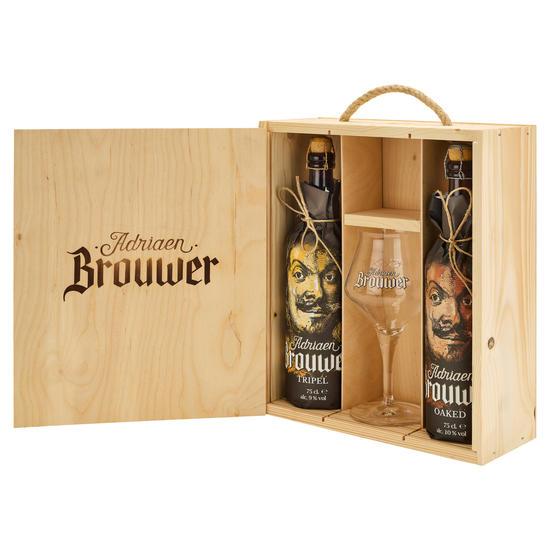 Adriaen Brouwer houten geschenkset
